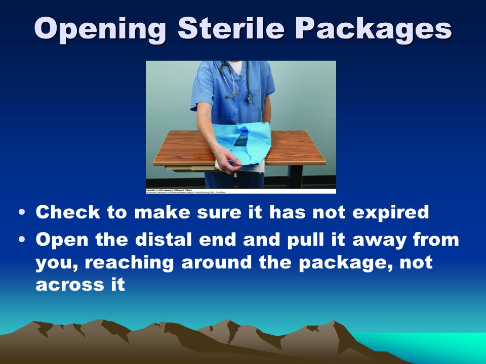 Opening Sterile Packages