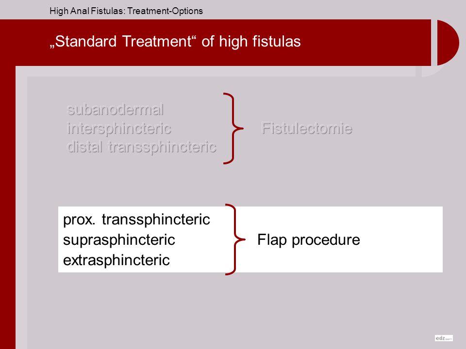 """Standard Treatment of high fistulas"