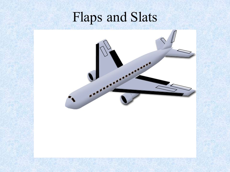 Flaps and Slats NOTE: This slide shows how the aircraft will react when the flaps and slats are moved.