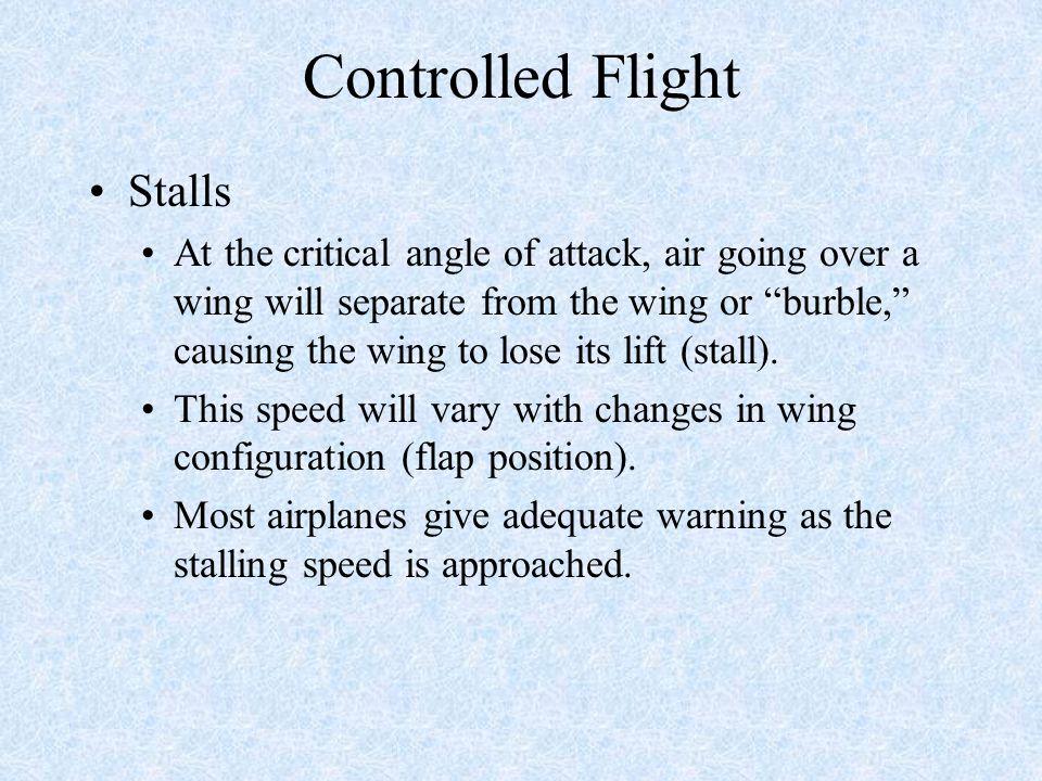 Controlled Flight Stalls