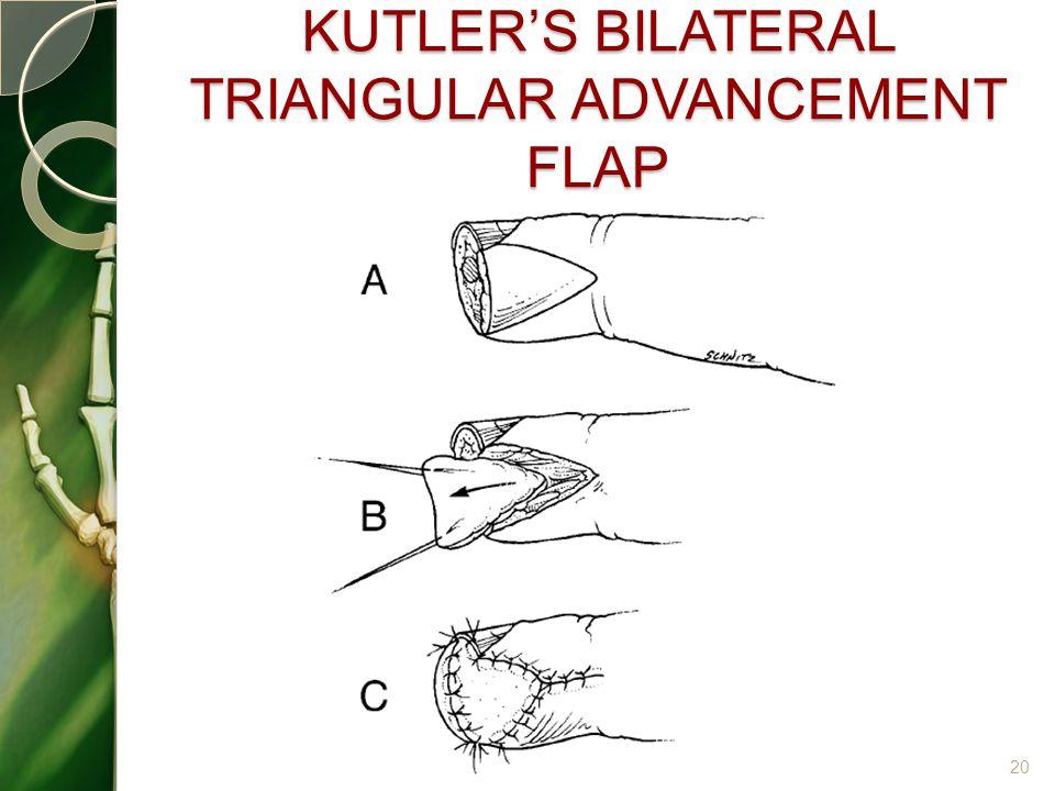 KUTLER'S BILATERAL TRIANGULAR ADVANCEMENT FLAP