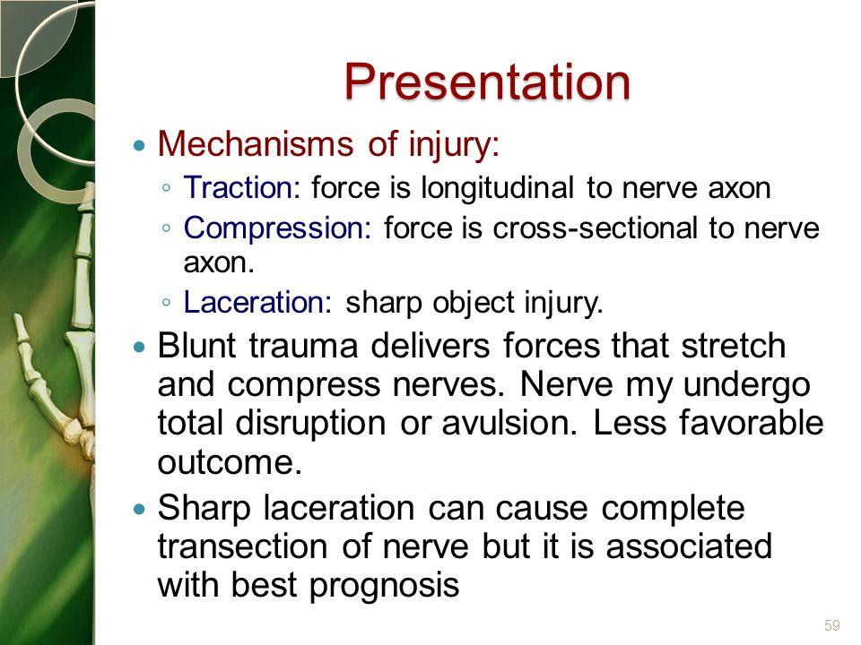 Presentation Mechanisms of injury: