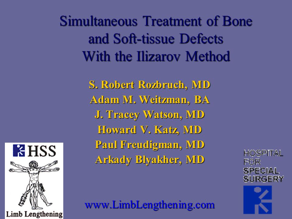 Simultaneous Treatment of Bone and Soft-tissue Defects With the Ilizarov Method