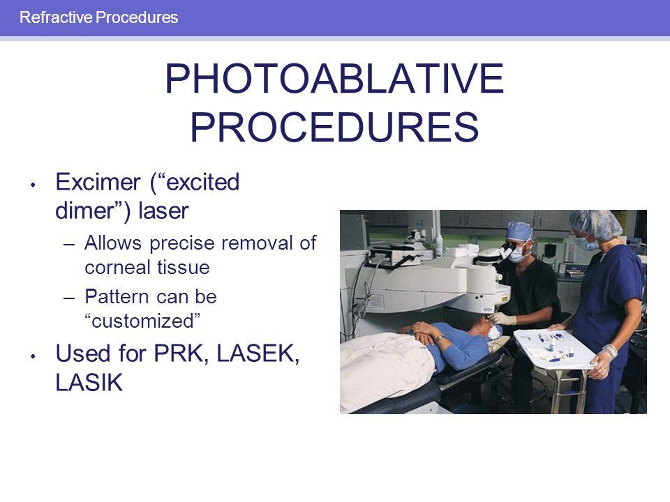 PHOTOREFRACTIVE KERATECTOMY (PRK): PROCEDURE