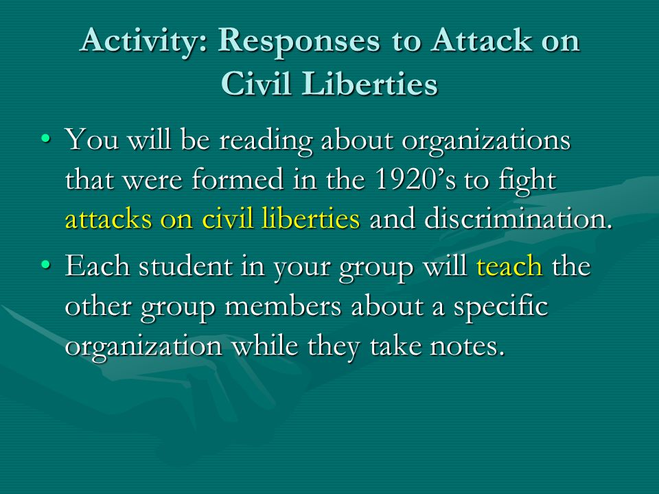 Activity: Responses to Attack on Civil Liberties