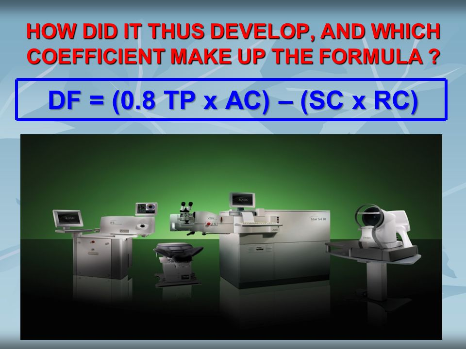 HOW DID IT THUS DEVELOP, AND WHICH COEFFICIENT MAKE UP THE FORMULA