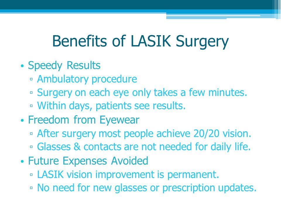 Benefits of LASIK Surgery