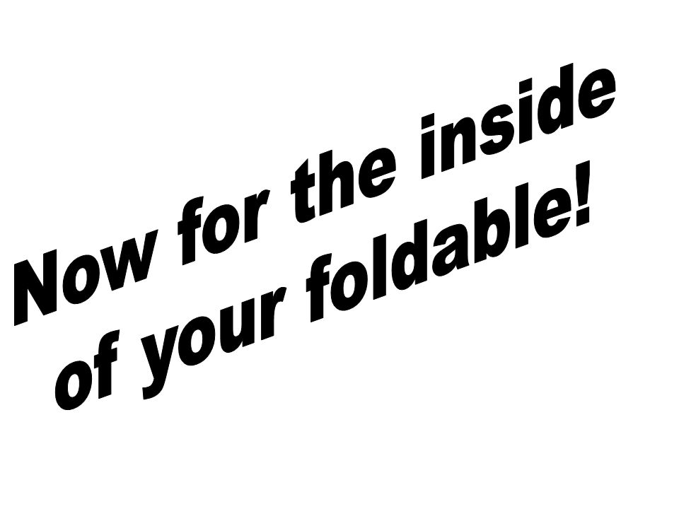 Now for the inside of your foldable!