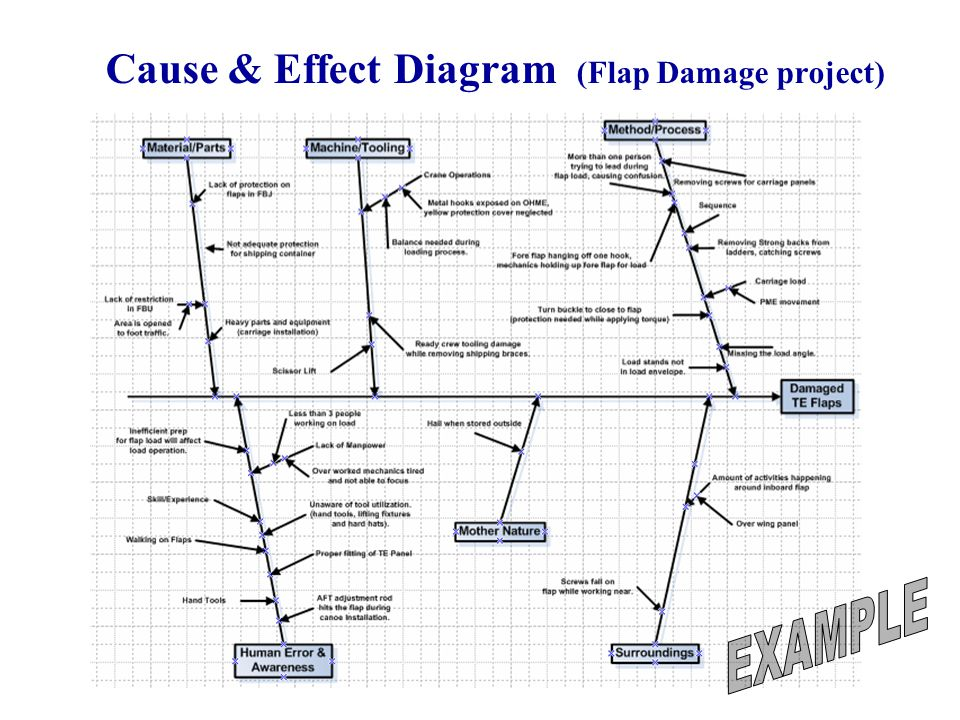 Cause & Effect Diagram (Flap Damage project)