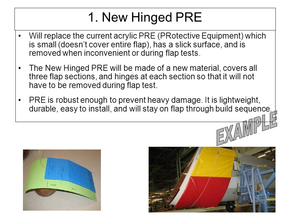 1. New Hinged PRE