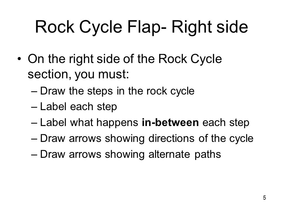 Rock Cycle Flap- Right side