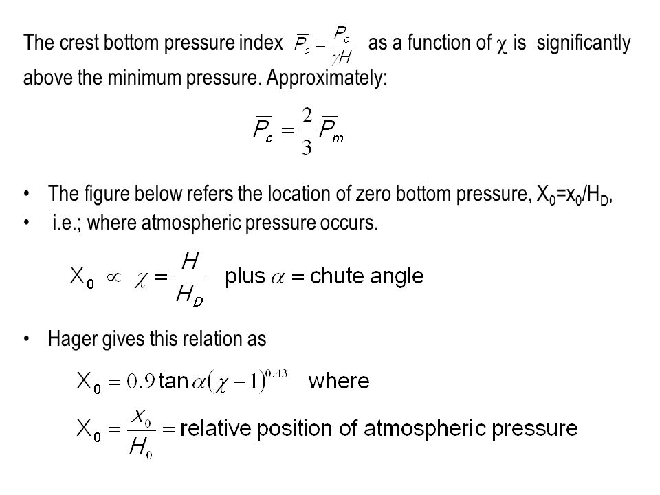 The crest bottom pressure index as a function of c is significantly
