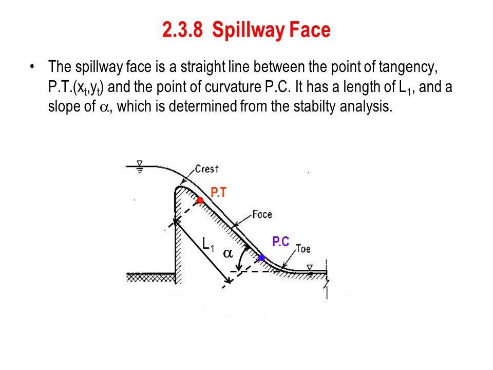 2.3.8 Spillway Face