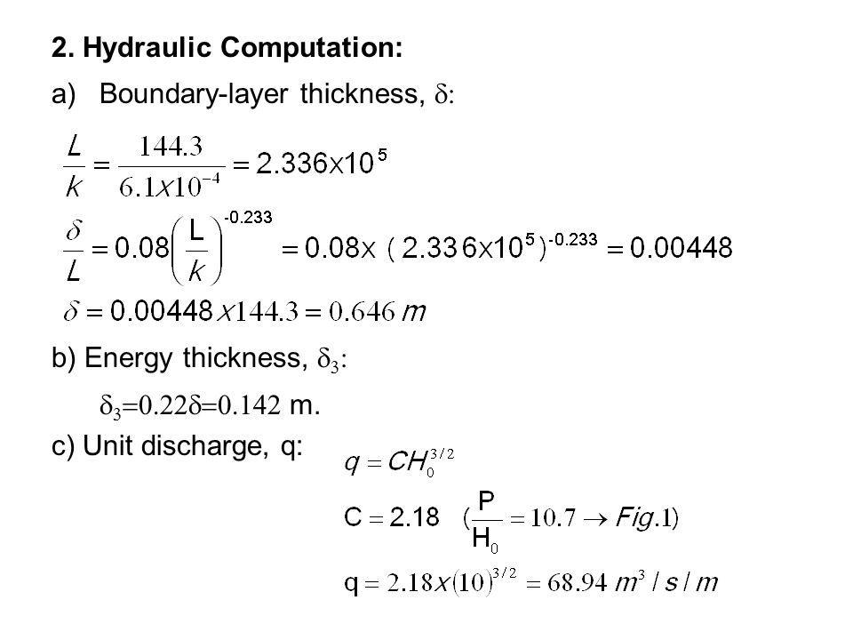 2. Hydraulic Computation: