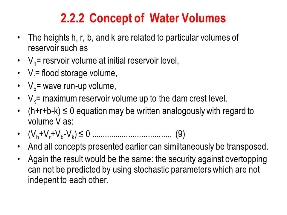 2.2.2 Concept of Water Volumes