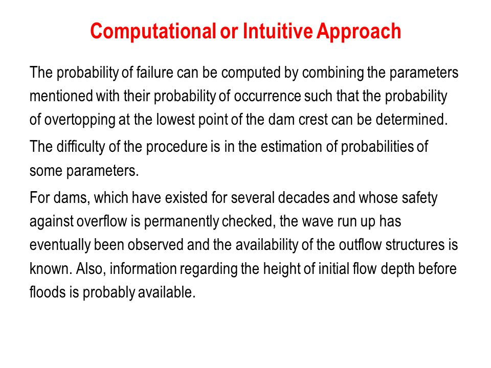 Computational or Intuitive Approach