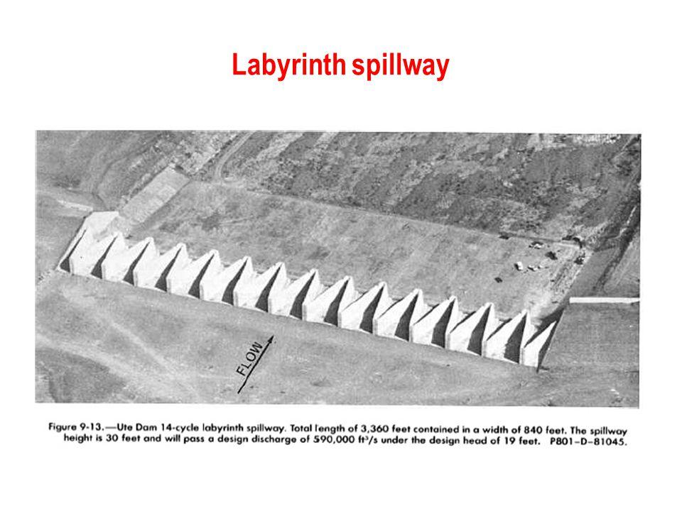 Labyrinth spillway