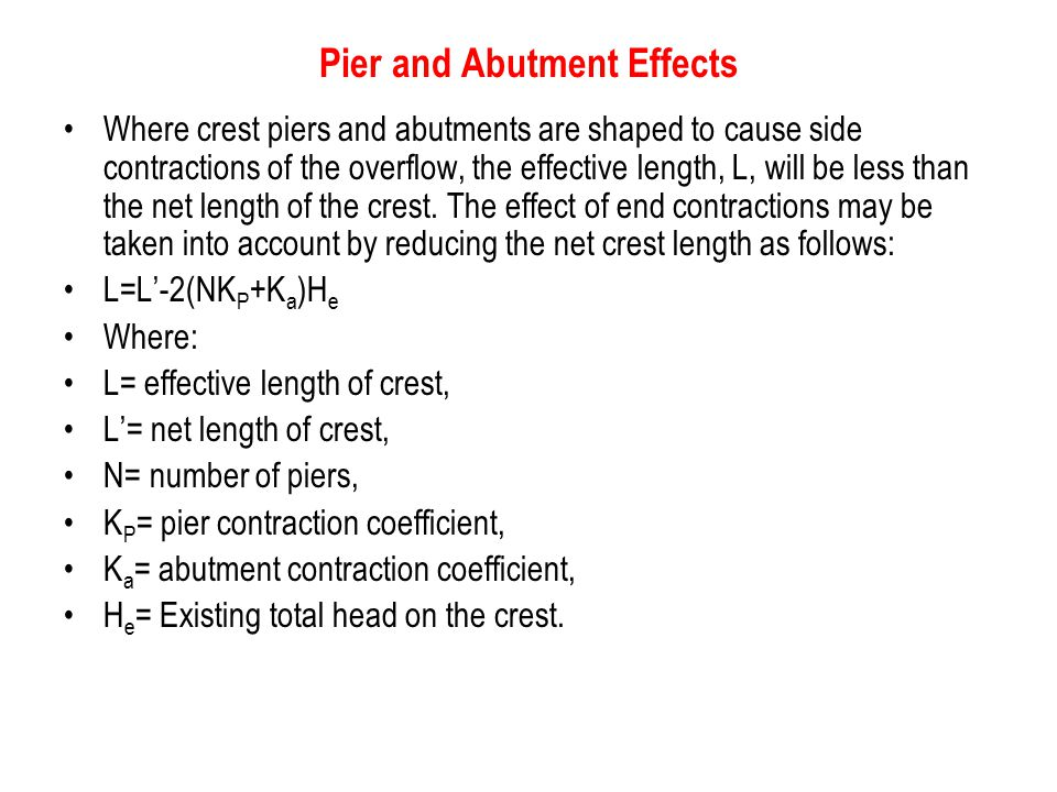 Pier and Abutment Effects