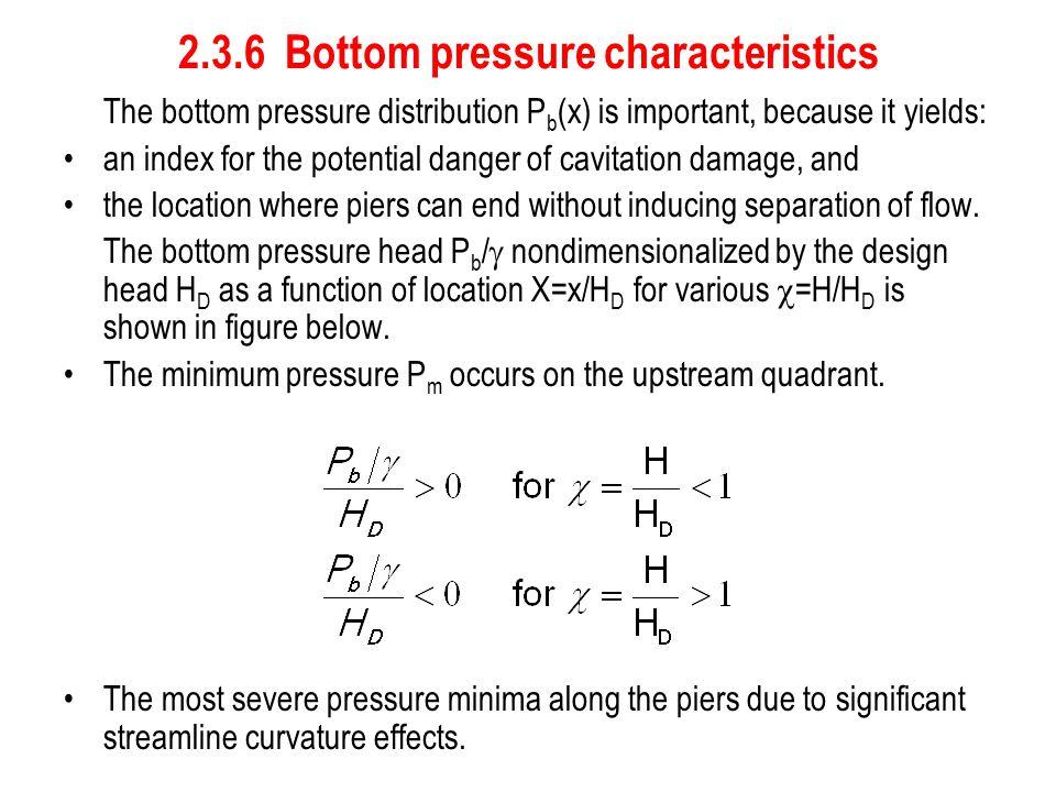 2.3.6 Bottom pressure characteristics