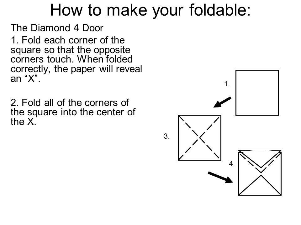 How to make your foldable: