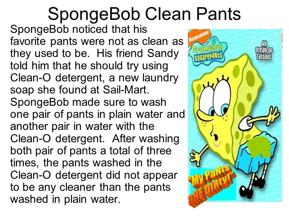 SpongeBob Clean Pants My PaNts aRE DIRty!