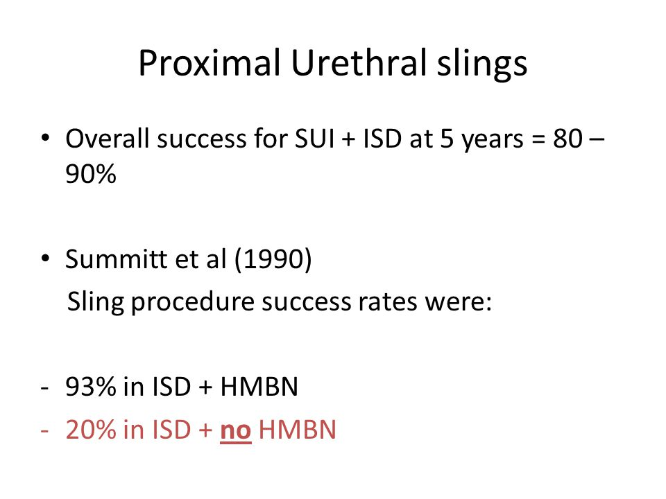 Proximal Urethral slings