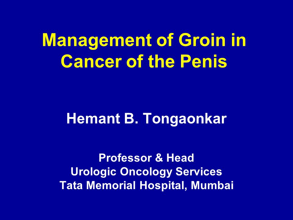 Management of Groin in Cancer of the Penis