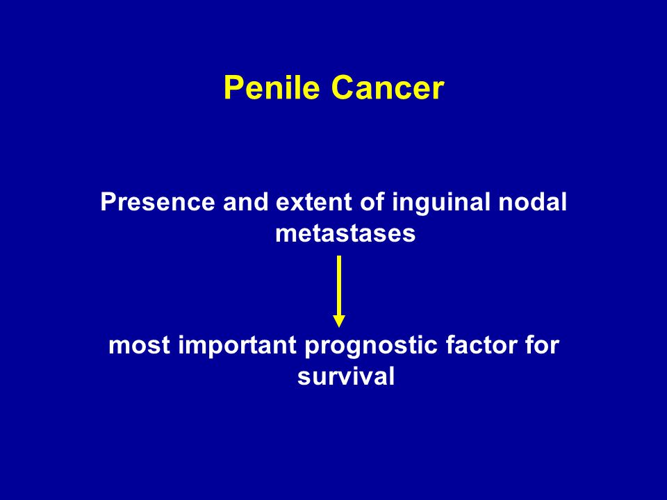 Penile Cancer Presence and extent of inguinal nodal metastases