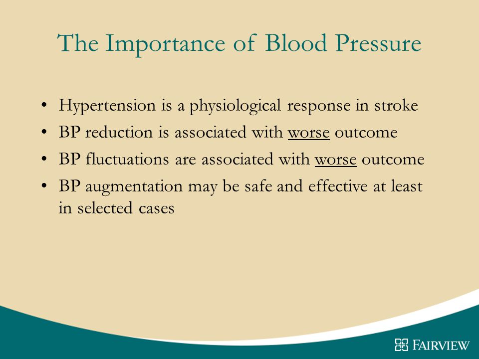 The Importance of Blood Pressure