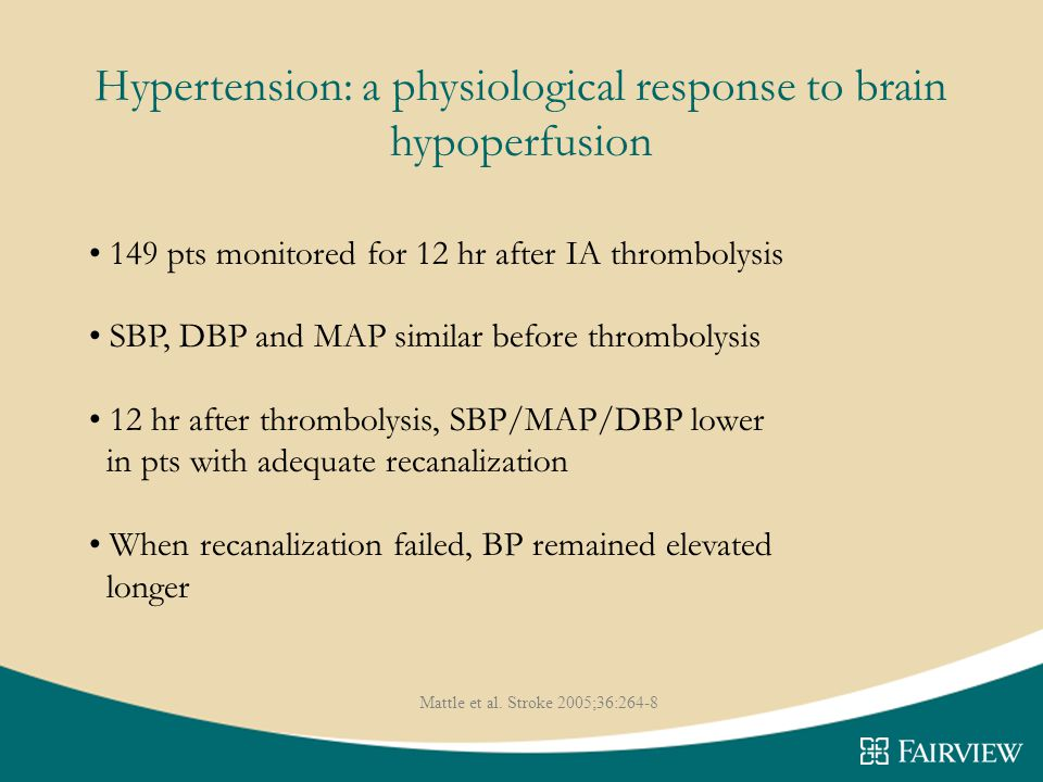 Hypertension: a physiological response to brain hypoperfusion