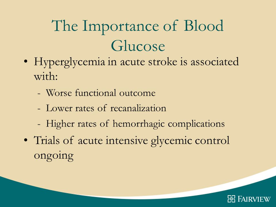 The Importance of Blood Glucose