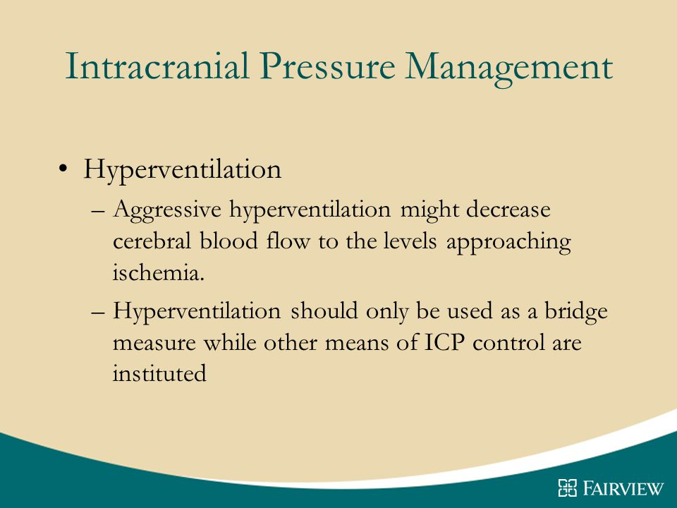 Intracranial Pressure Management