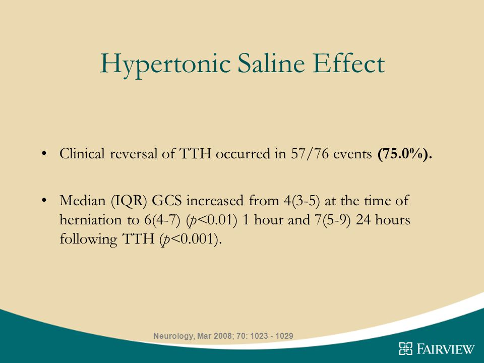 Hypertonic Saline Effect