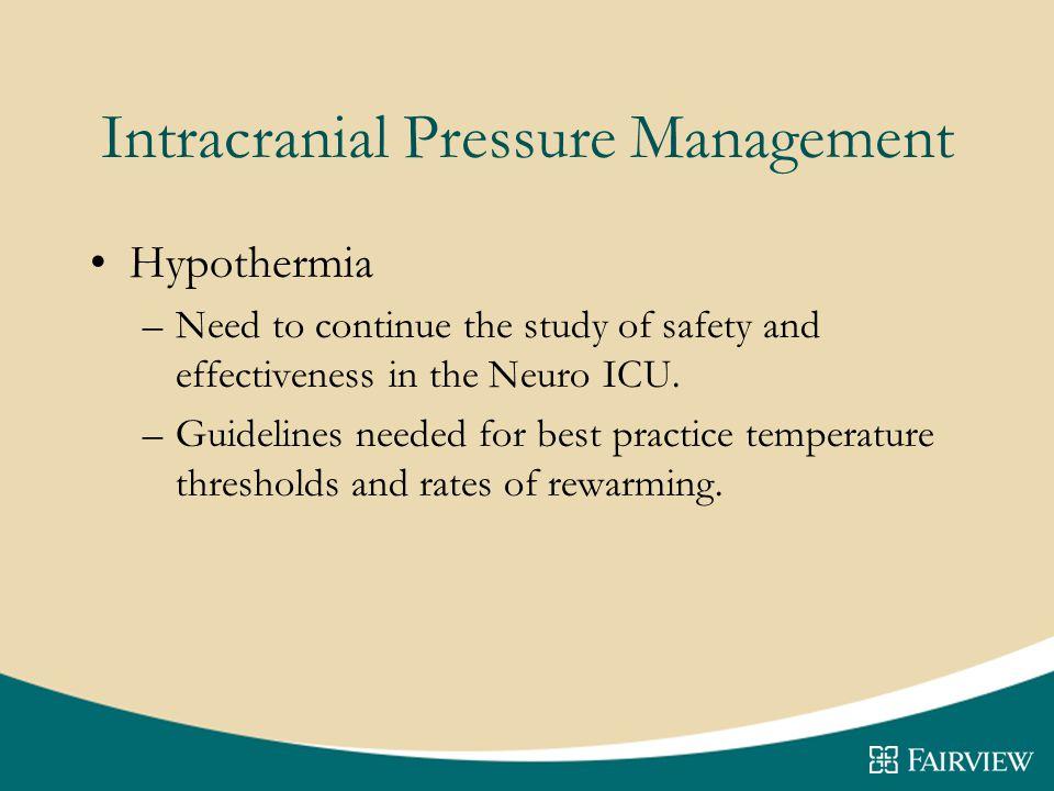 Intracranial Pressure Management
