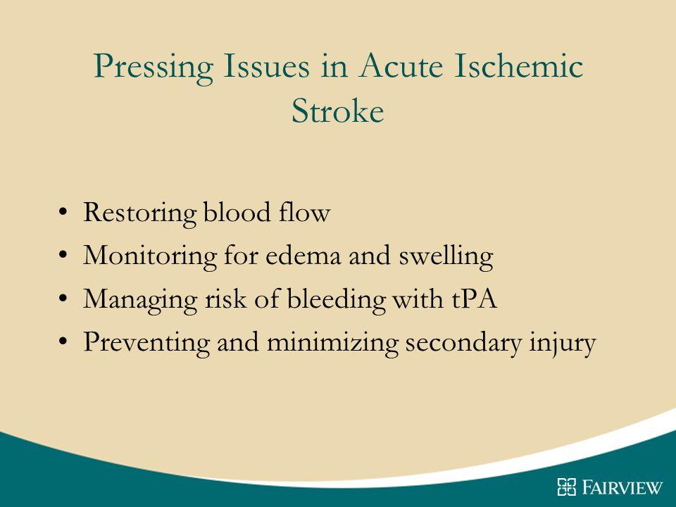 Pressing Issues in Acute Ischemic Stroke