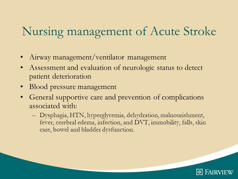 Nursing management of Acute Stroke