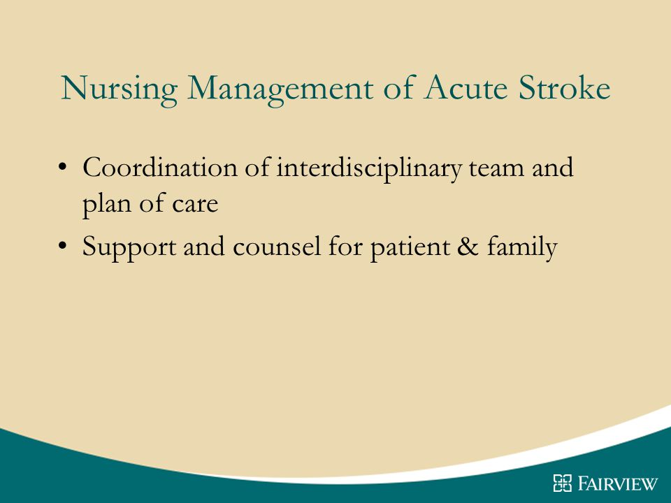 Nursing Management of Acute Stroke