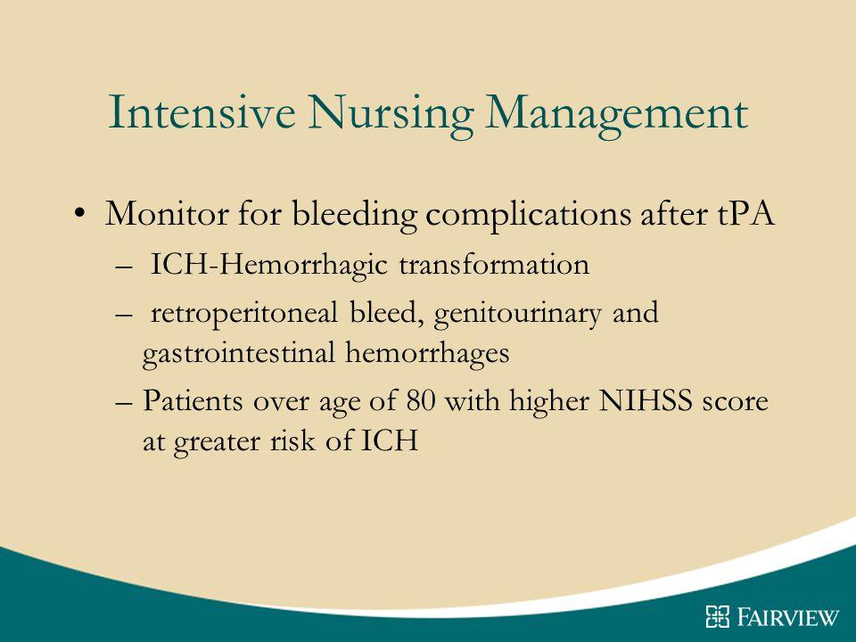 Intensive Nursing Management