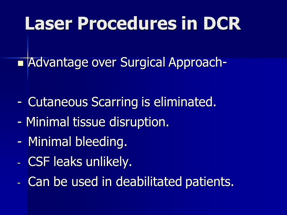 Laser Procedures in DCR