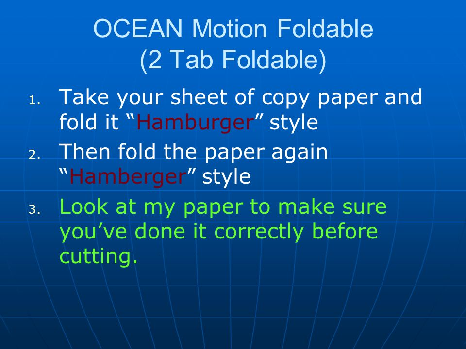 OCEAN Motion Foldable (2 Tab Foldable)