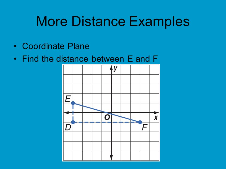 More Distance Examples