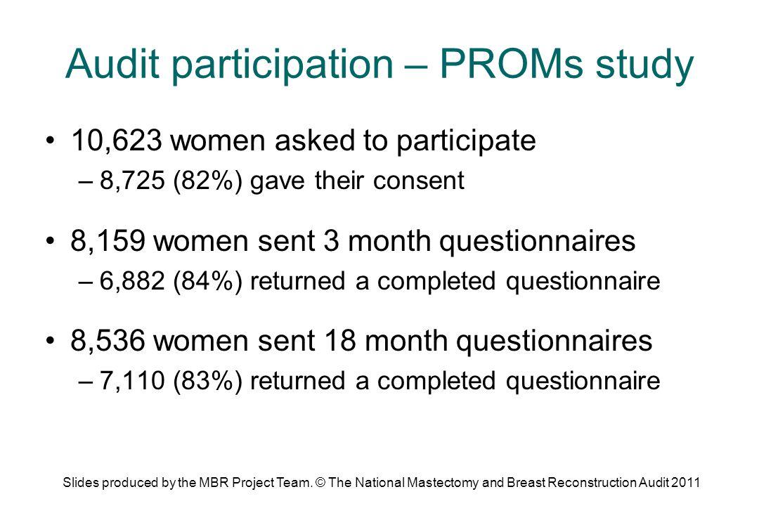 Audit participation – PROMs study