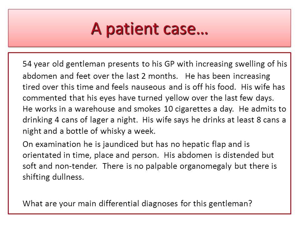 A patient case…