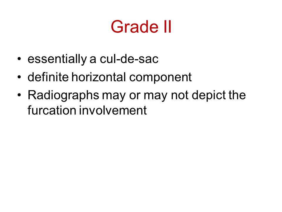 Grade II essentially a cul-de-sac definite horizontal component