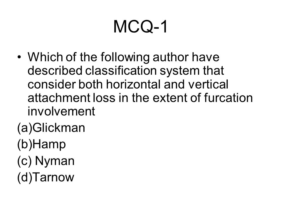 MCQ-1