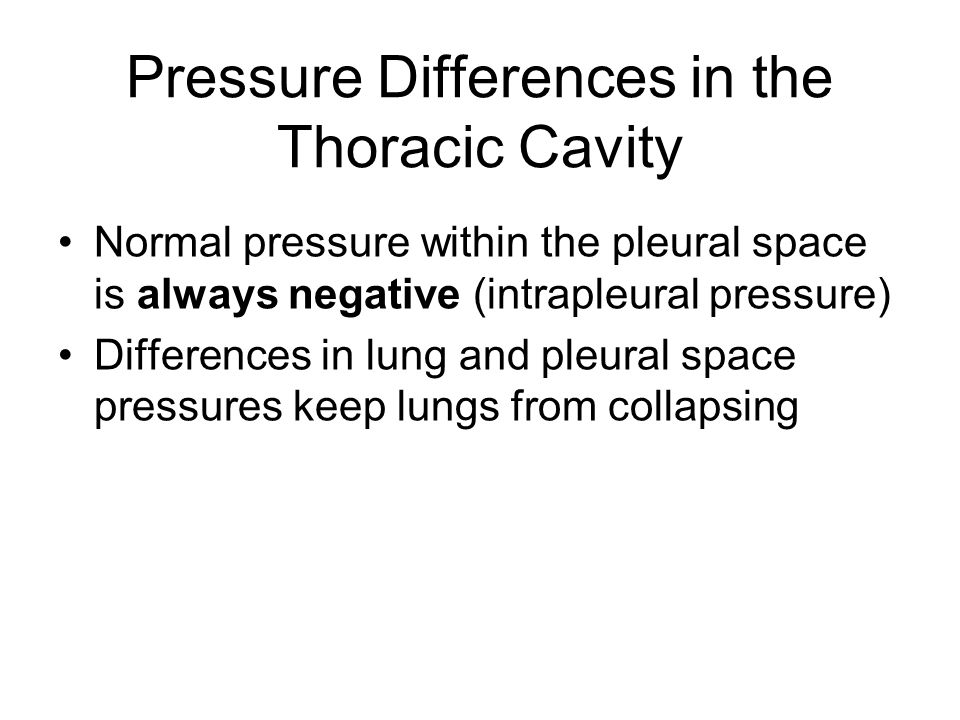 Pressure Differences in the Thoracic Cavity