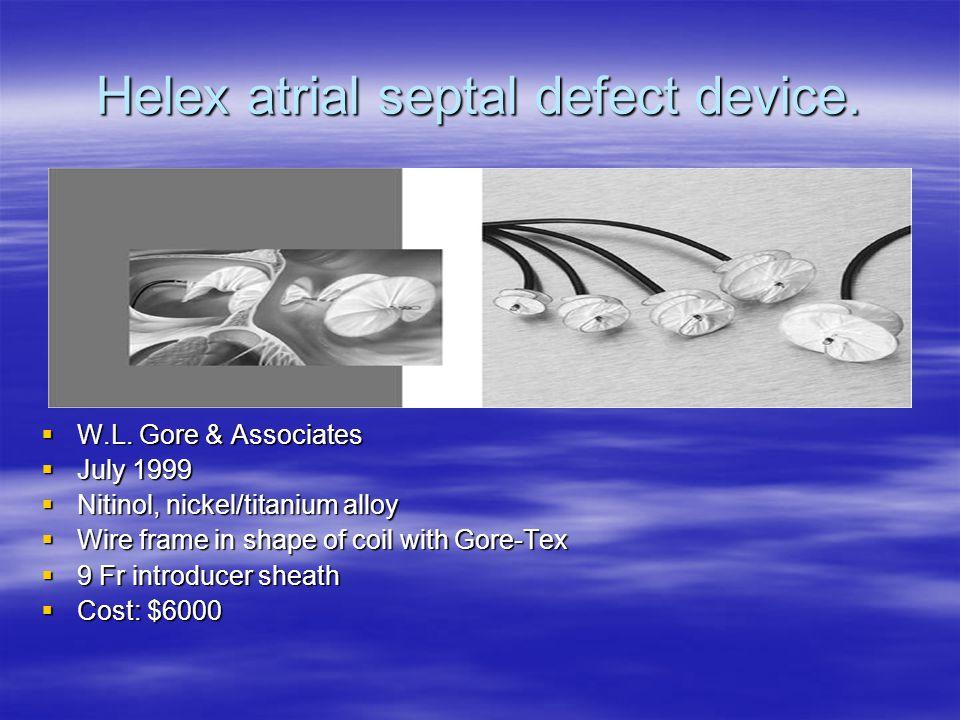 Helex atrial septal defect device.