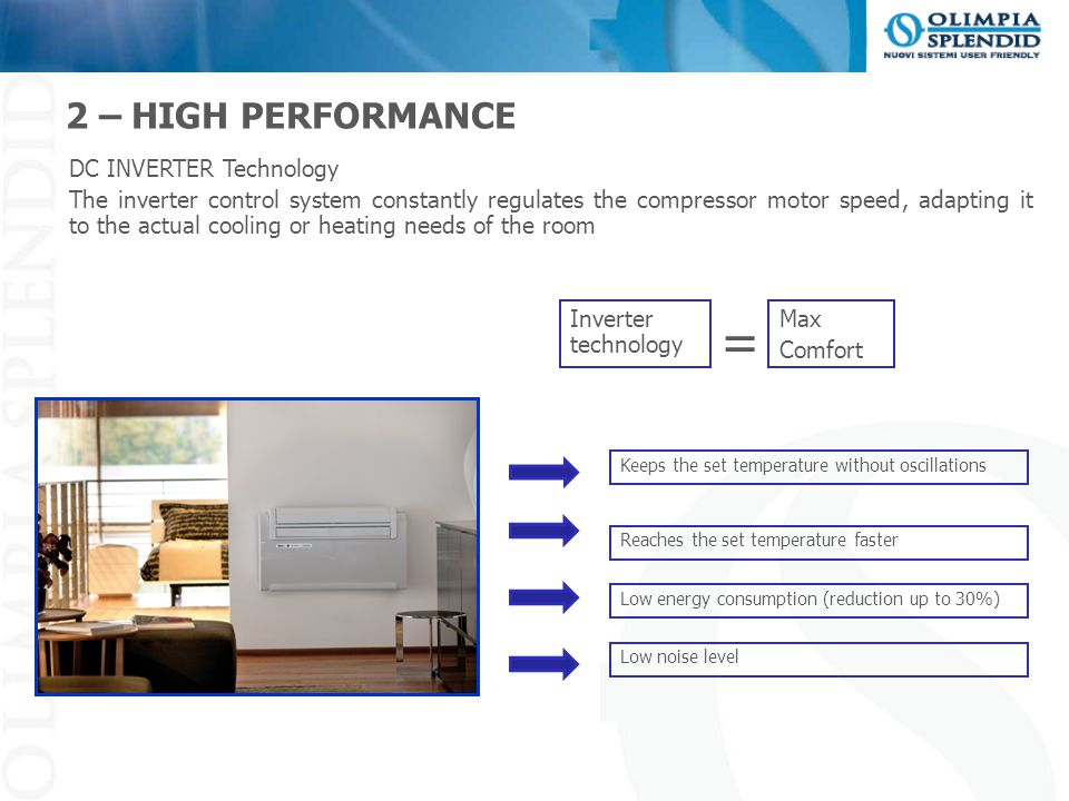 = 2 – HIGH PERFORMANCE DC INVERTER Technology