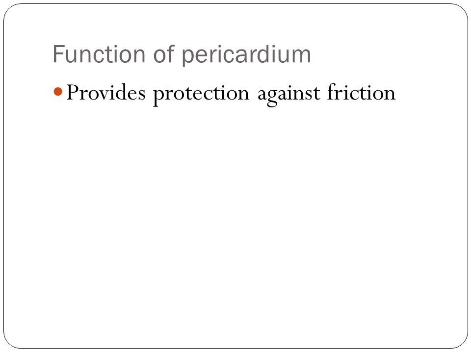 Function of pericardium