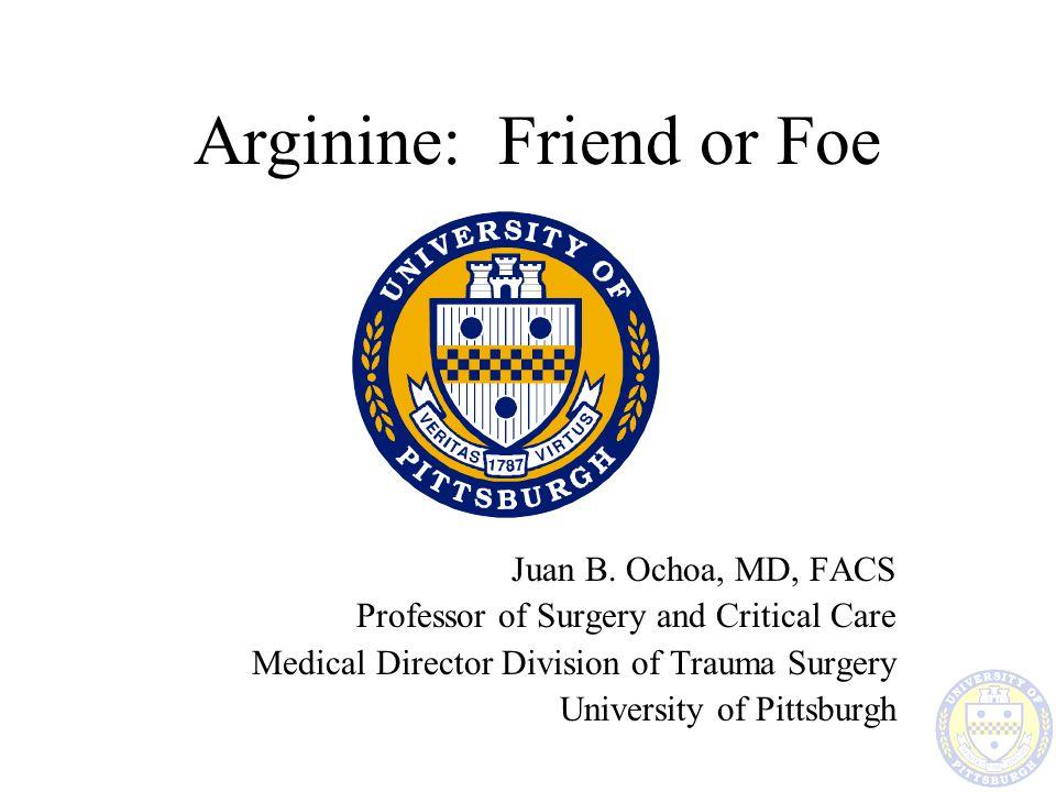 Arginine: Friend or Foe